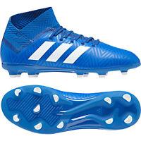 Adidas Nemeziz 18.3 Fg J 38 2/3 Enfants Football Entreprise Terrain Bleu DB2351
