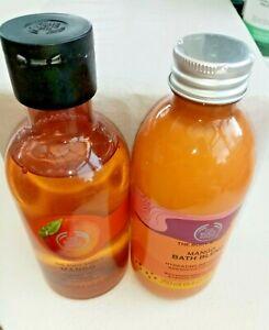The Body Shop Mango Bath Blend + Shower Gel 250ml each