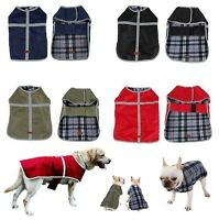 Small Extra Large dog waterproof rain coat jacket clothes reversible reflective
