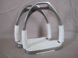 New Shock Absorb Quality Flexi Bendy Safety Stirrup Irons Stainless Steel