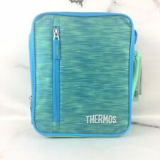 Thermos Insulated Lunch Kit Bag Blue Green