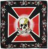 Bandana Motorbike Rider Head Wrap Black White Red skull Cross Bones CHOPPERS