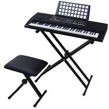 61 Keys LCD Teaching Keyboard DynaSun MK906 USB MIDI + Support Piano Bench Touch