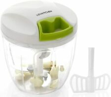 Manual Food Chopper-LOVKITCHEN Compact and Powerful Hand Held Vegetable (L)