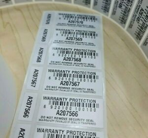 Warranty Void Stickers Double Labels Tamper Proof Evident  Security Seal 2-Part