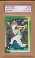 1990 Topps Baseball Rookie Sammy Sosa RC #692 PSA 9 Mint Chicago White Sox