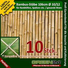 10 Bambus-Stäbe als Rankhilfe Rank-Gitter Stäbe für Pflanzen im Garten & Kübel !