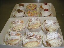 PACK OF 12 HOME MADE MIXED BUNS   Family bakery Shop  (butterfly/ iced)