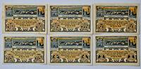 ESCHERSHAUSEN Stadt Notgeld 10+25+50+75 PF, 1+2 Mark 1921 Komplette Serie (4192)