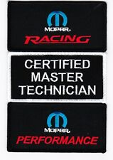 MOPAR MASTER TECHNICIAN SEW/IRON ON PATCH EMBROIDERED CHALLENGER CHARGER SRT