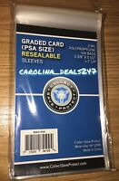 PSA Graded Card Poly Bags 100 Sleeves SNUG FIT PSA SKIN TIGHT FOR PSA SLABS 1094