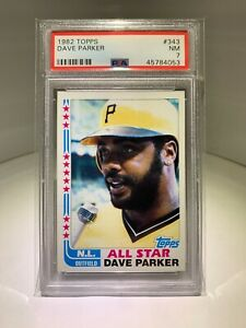 1982 Topps #343 Dave Parker Pittsburgh Pirates AS PSA 7 NM
