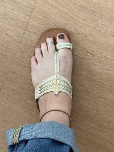 Sandales ethniques en cuir