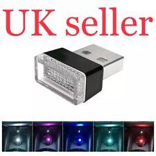 1PC White Atmosphere Lamp For Car Lamp Bright EH Mini USB LED Light Uk Seller