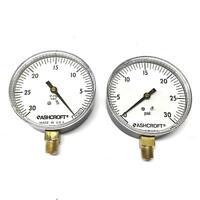 "Ashcroft 3-1/2"" Face Pressure Gauge 35W1005-H-02L [Lot of 2] NOS"