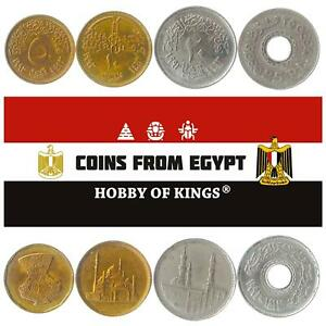 SET OF 4 COINS FROM EGYPT: 5, 10, 20, 25 PIASTRES. 1992-1993