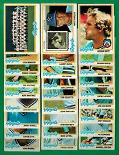 1978 Topps Baseball Kansas City Royals Team Set / Lot - Brett