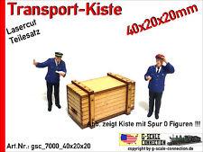 Spur 0 Lasercut 2x Transport Kiste 40x20x20mm aus Holz für z.B. Lenz Brawa MBW