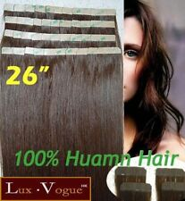 "26"" 40pcs 100% Human Hair 3M Tape-in Extensions Remy #4"