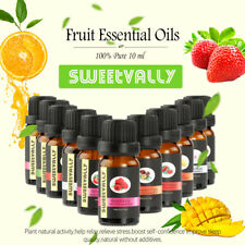 SWEETVALLY 10ml Fruit Essential Oils Pure Natural Aromatherapy Diffusers Oils