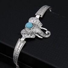 Retro Turquoise Elephant Bracelet- Chain Cuff Bangle Womens Jewellery Gift item