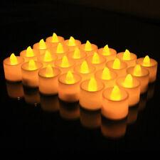 24 Pcs LED Tea Lights Fake Candles Flameless Flickering Decor Festival Battery