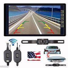 """9"""" TFT LCD Car Rear View Backup Monitor+Wireless Parking Night Vision Camera Kit"""