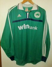 PANATHINAIKOS 2001 AUTHENTIC FOOTBALL SHIRT BY ADIDAS LARGE LONGSLEEVE GREECE