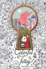 Colorful Jetoy Coloring Book Cute Choo Choo Cat Partial Colored tracking no