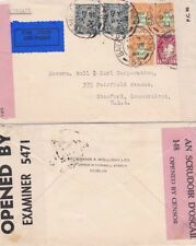 Ireland 1944 Air mail cover censored in Ireland and G.B at Dublin to USA