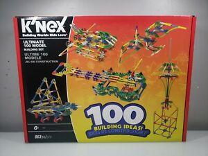 K'nex 100 Building Ideas  863 pcs 16457 New