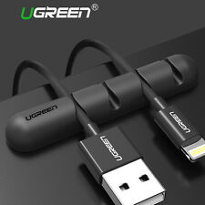UGREEN USB Charge Cable Holder 2 PCs Desk Cable Clips Organiser Cord Management