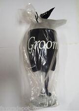 Groom Wine Glass Cover on Wine Glass - Wedding Groom Gift Insulating Wine Sleeve