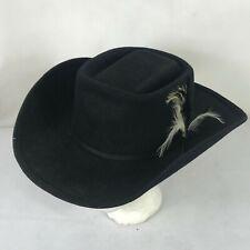 Vintage The Rancher, black cowboy hat size 7 3/8 Western