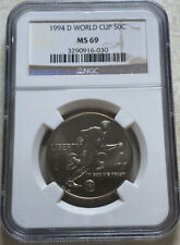 1994 D World Cup Soccer Commemorative Half Dollar Ngc Ms69