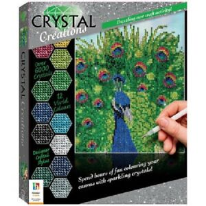 Crystal Creations Proud Peacock Kit, on canvas board,290x230x28mm,new, sealed