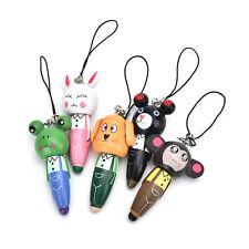 1Pc Wooden Animal Ballpoint Pen Bag Pendant Kid Stationery Gift Random LJU
