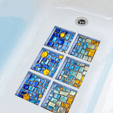 EG_ CN_ 6Pcs 3D Bath Tub Shower Mosaic Sticker Non Slip Anti Skid Decals Decor U