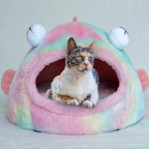 Pet Cat Dog House Kennel Puppy Sofa Cave Sleeping Mat Pad Soft Cushion Gift