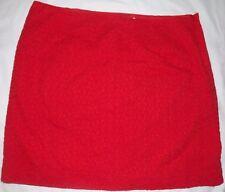 LL Bean Camden Skirt Women's 14 Petite Field Poppy Favorite Fit Lined Side Zip
