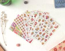 New 6 sheet  Alice in wonderland calendar diary planner Decorative stickers