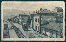 Roma Colleferro Stazione Treni ABRASA REINCOLLATA cartolina KF2148