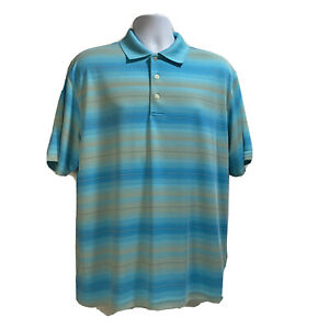 TOP FLITE Golf Polo Shirt Size Large Blue Short Sleeve