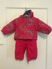 Columbia Baby Snow Jacket and Winter Overalls Suit Set Pink size 3-6 months