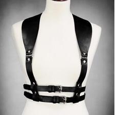Women Body Suspenders Pu Harness Leather Cincher Garter Belt Trainer Waist Strap