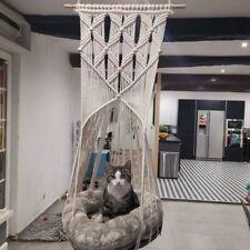 Hand Knitting Hanging Cat Nests Swing Hammock Pet Supply for Home Garden Decor