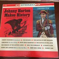 Vintage Original  1960s JOHNNY HORTON: MAKES HISTORY LP 33 1/3 Record