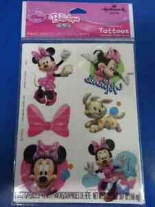 RARE Minnie Mouse Bow-tique Disney Kids Birthday Party Favor Temporary Tattoos