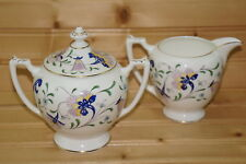 """Coalport Pageant  Creamer, 3 5/8"""" & Sugar Bowl, 3 5/8"""" with Lid"""
