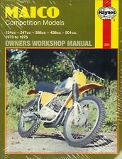 Maico Competition model Haynes Workshop Manual 1973-75 250 400 440 500 125